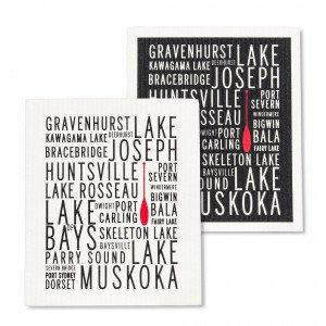 Muskoka Lakes Dishcloths.