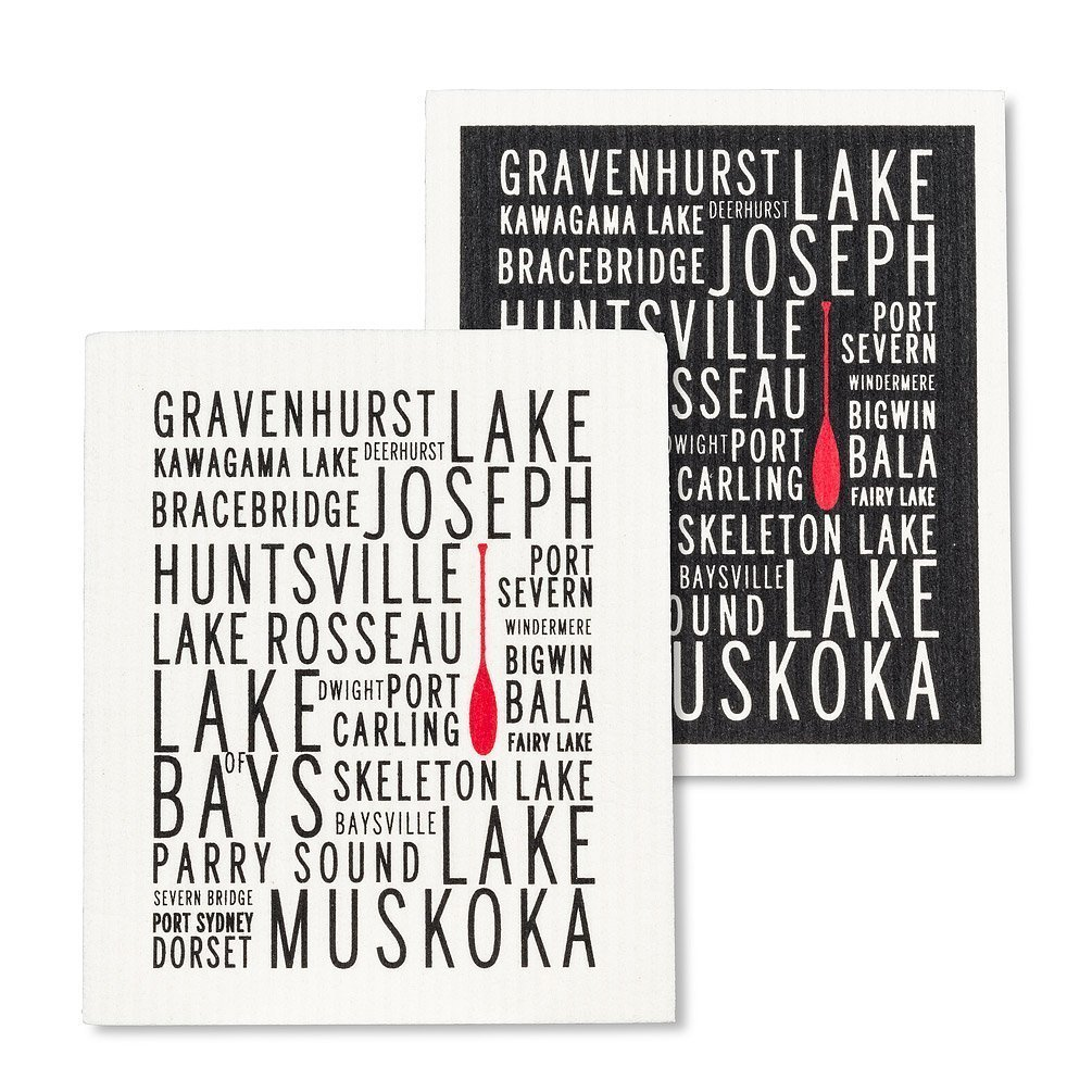 Muskoka Lakes Dishcloths.