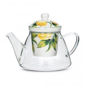 Lemon Tree Teapot & Strainer.