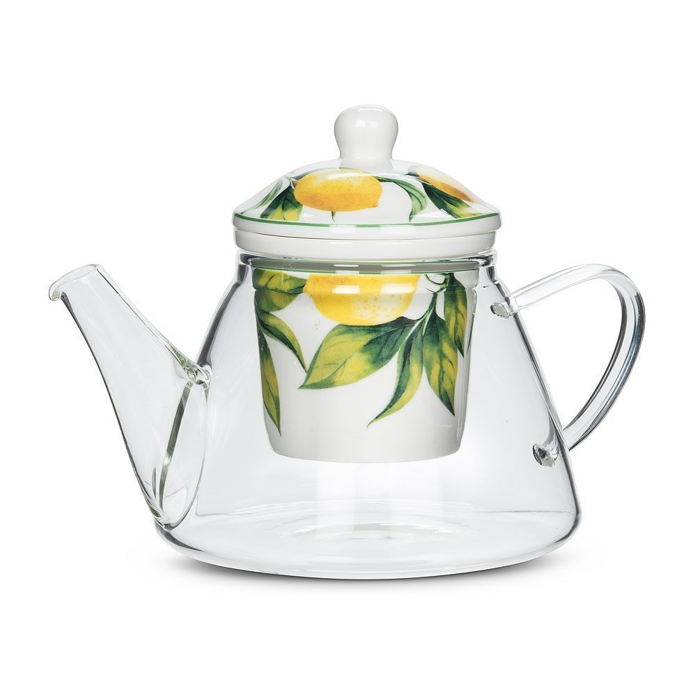 Lemon Tree Teapot & Strainer.