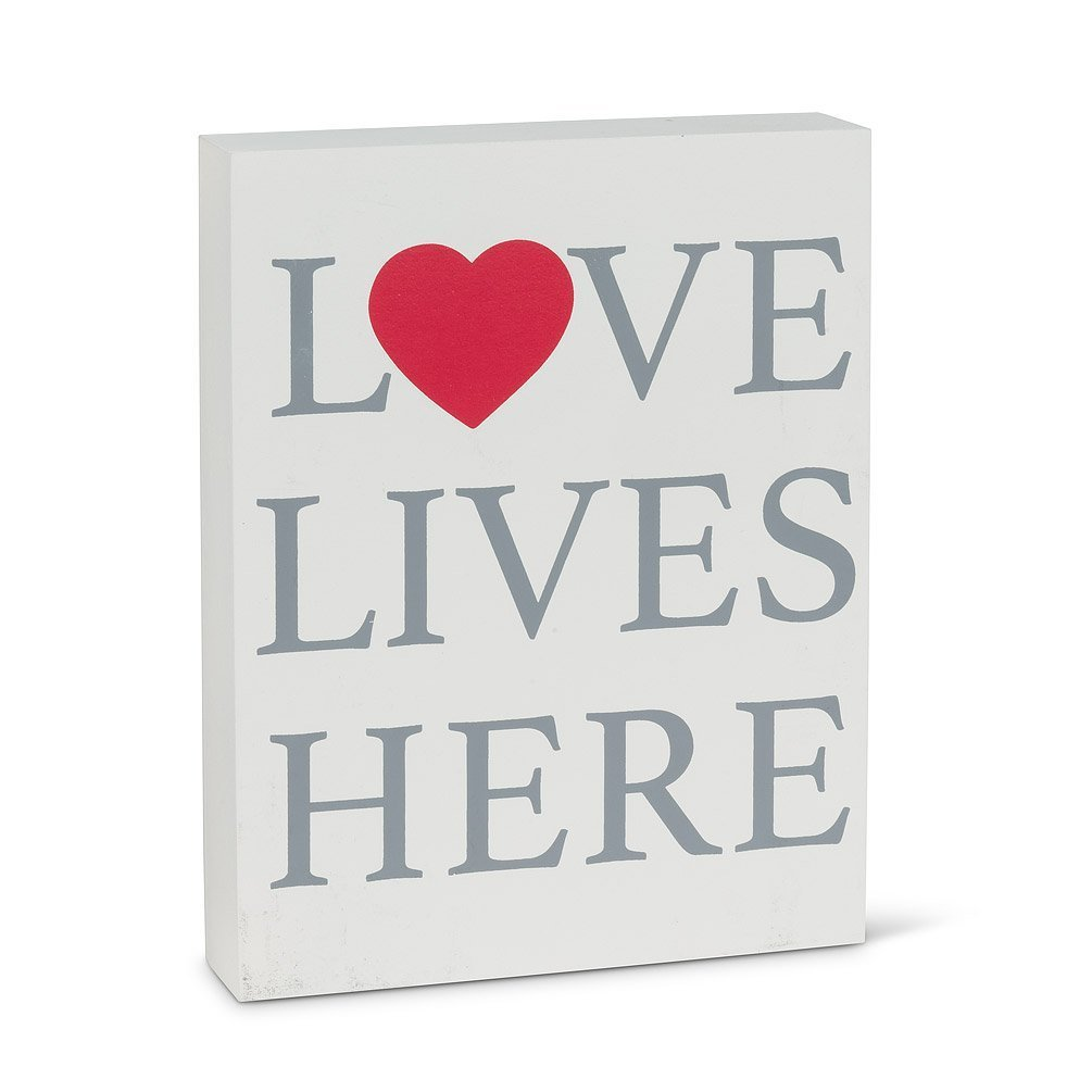 Love lives here decorative block