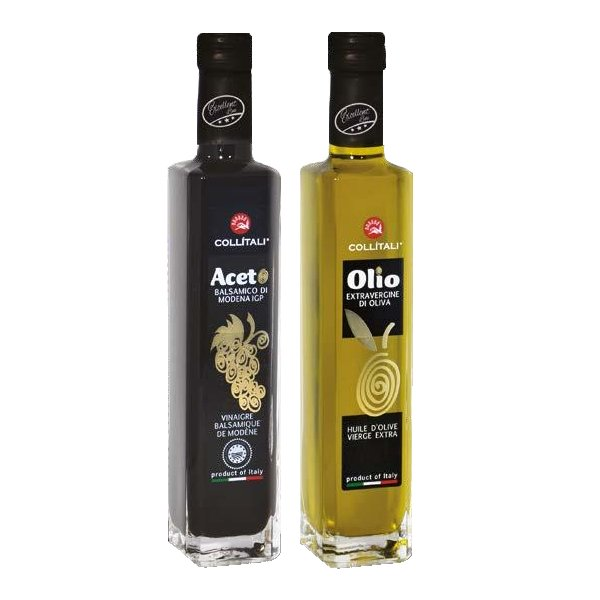 Collitali 100% Olive Oil and Balsamic Vinegar Bottle from Italy , 250ml