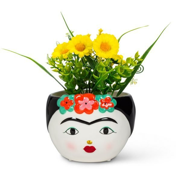Lady with Flowers Low Planter