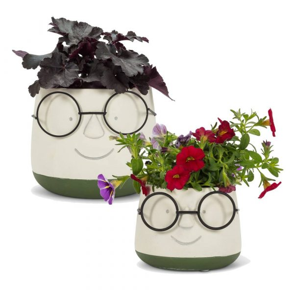 Face Planter with Glasses