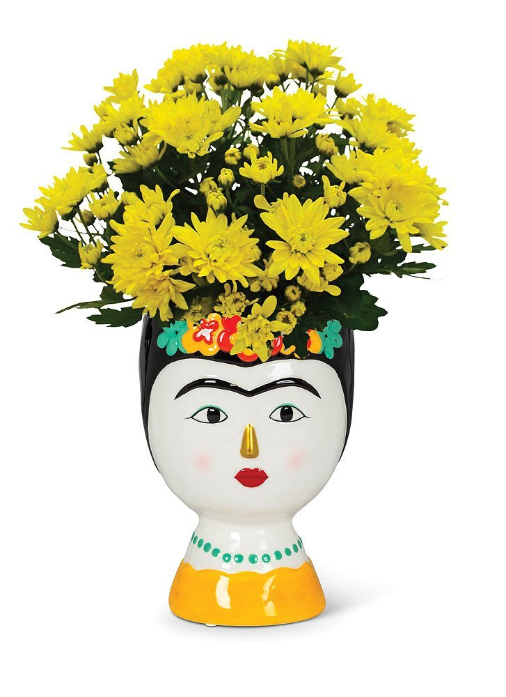 Lady with Flowers vase md
