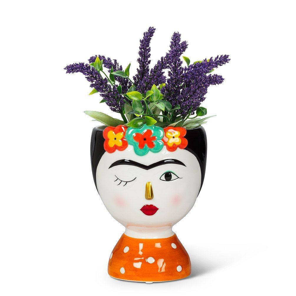 Lady with Flowers planter small