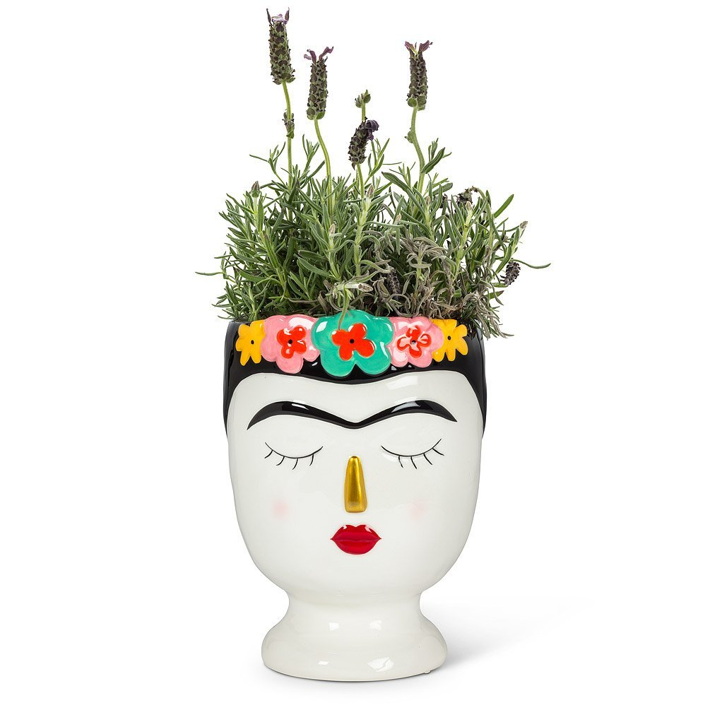 Lady with Flowers vase Lg