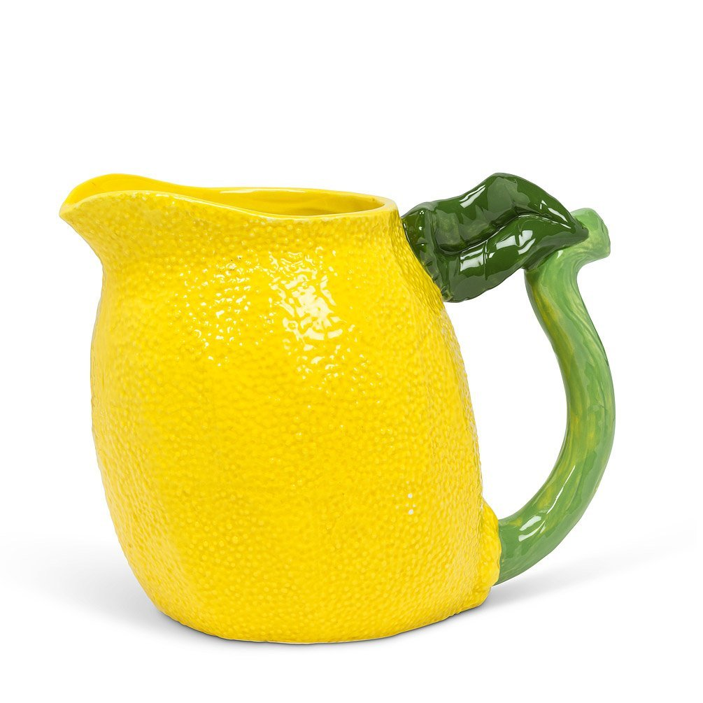 Lemon Jug with Leaf Handle
