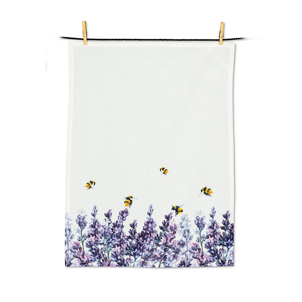Lavender & Bees Tea Towel