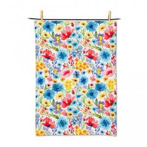 Allover Wildflower Tea Towel