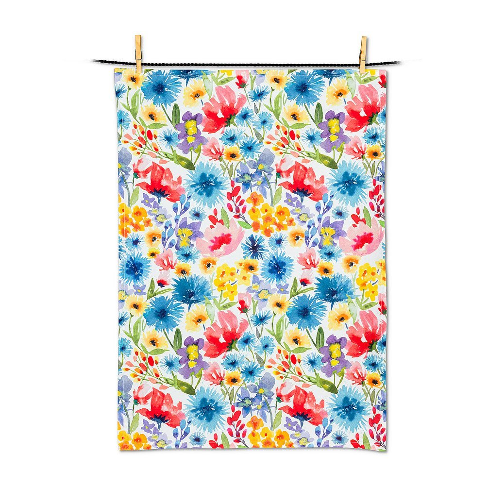 Allover Wildflower Tea Towel