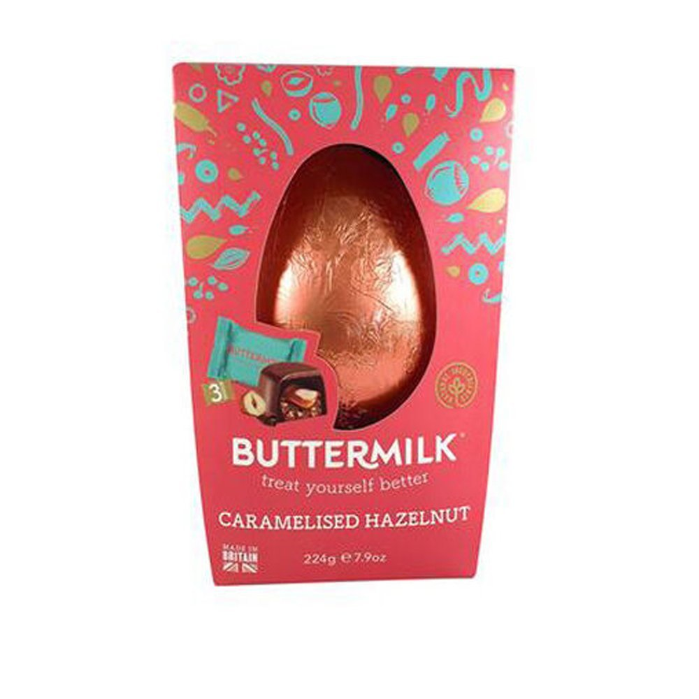 Buttermilk Caramelised Hazelnut Easter Egg 224g