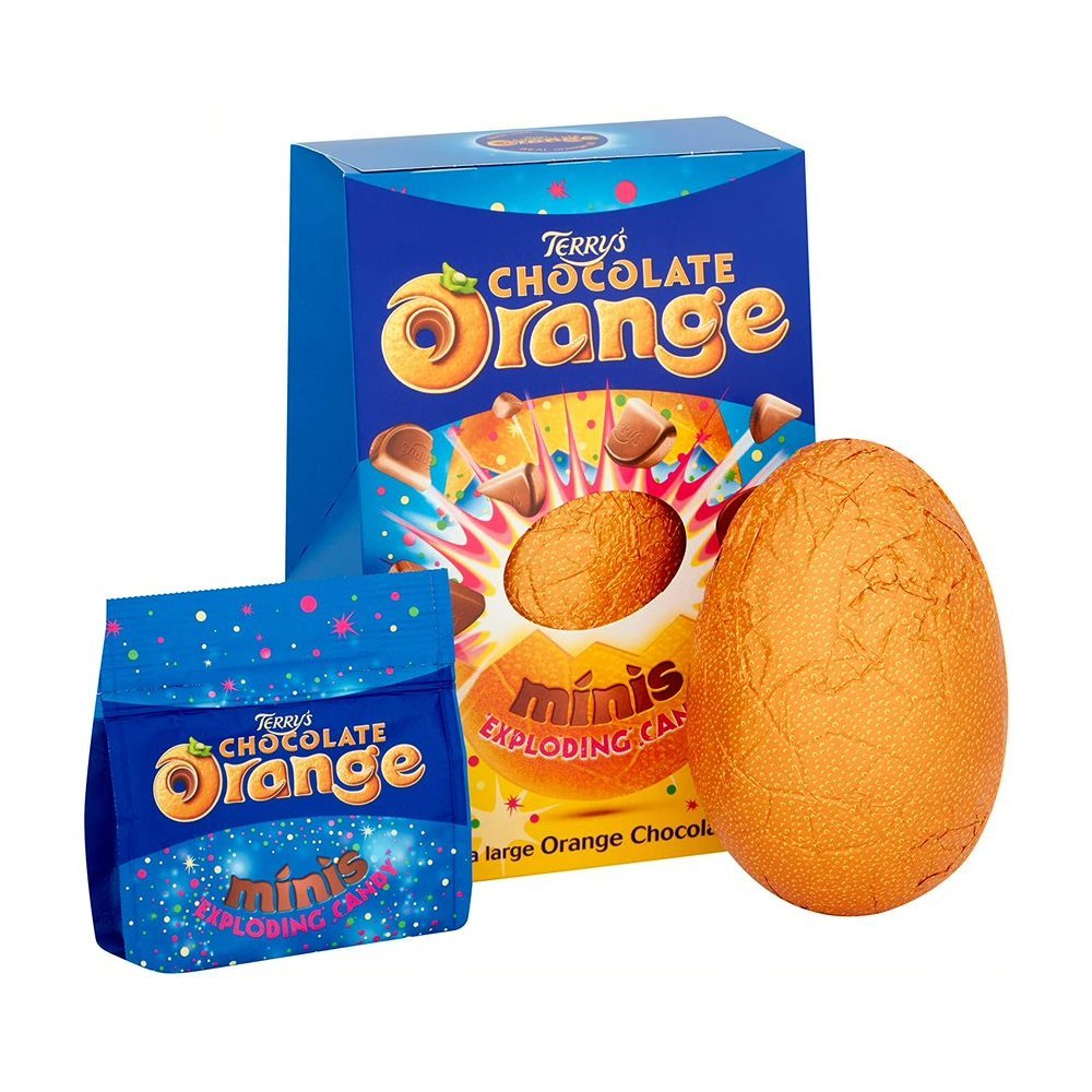 Terry's Chocolate Orange Egg with Exploding Candy Mini Eggs 250g