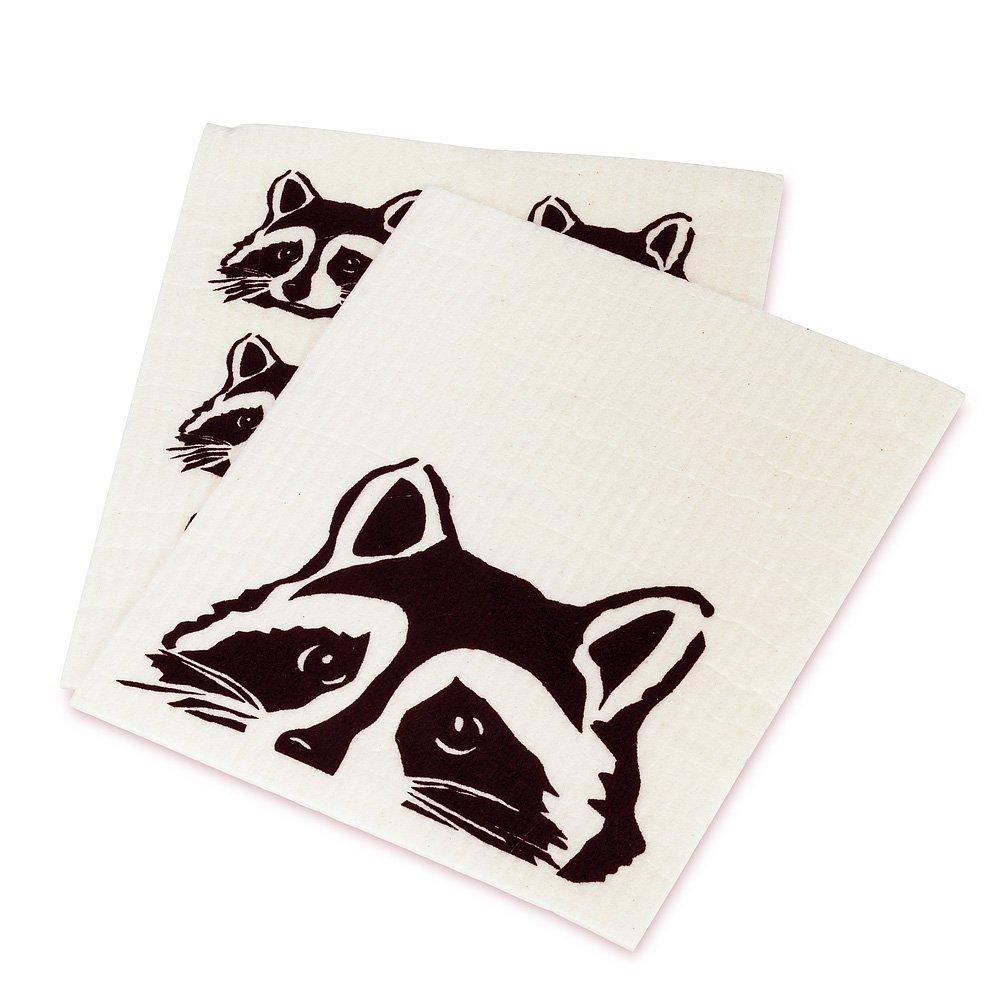 Peeking Raccoon Dishcloths