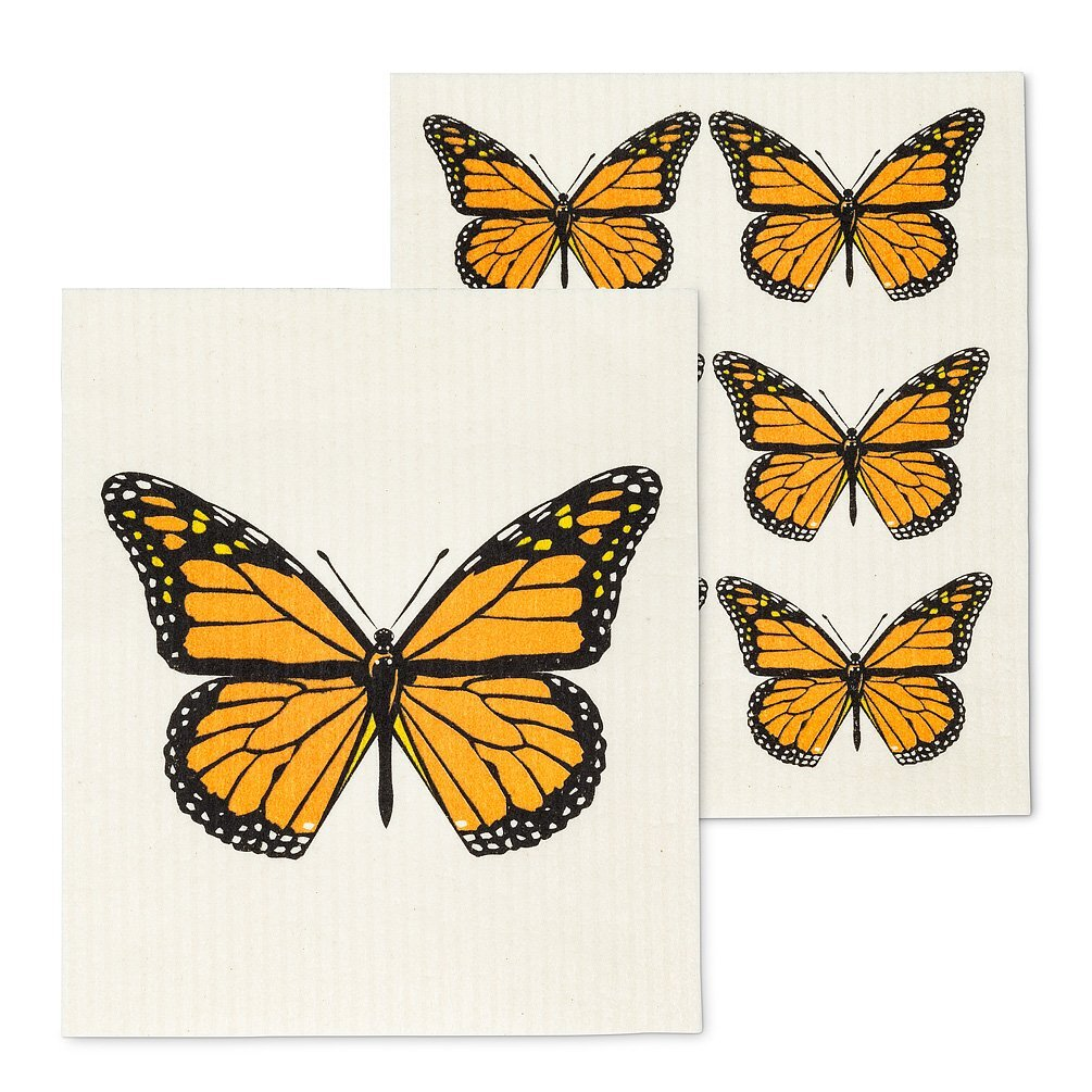 Monarch Butterfly Dishcloths
