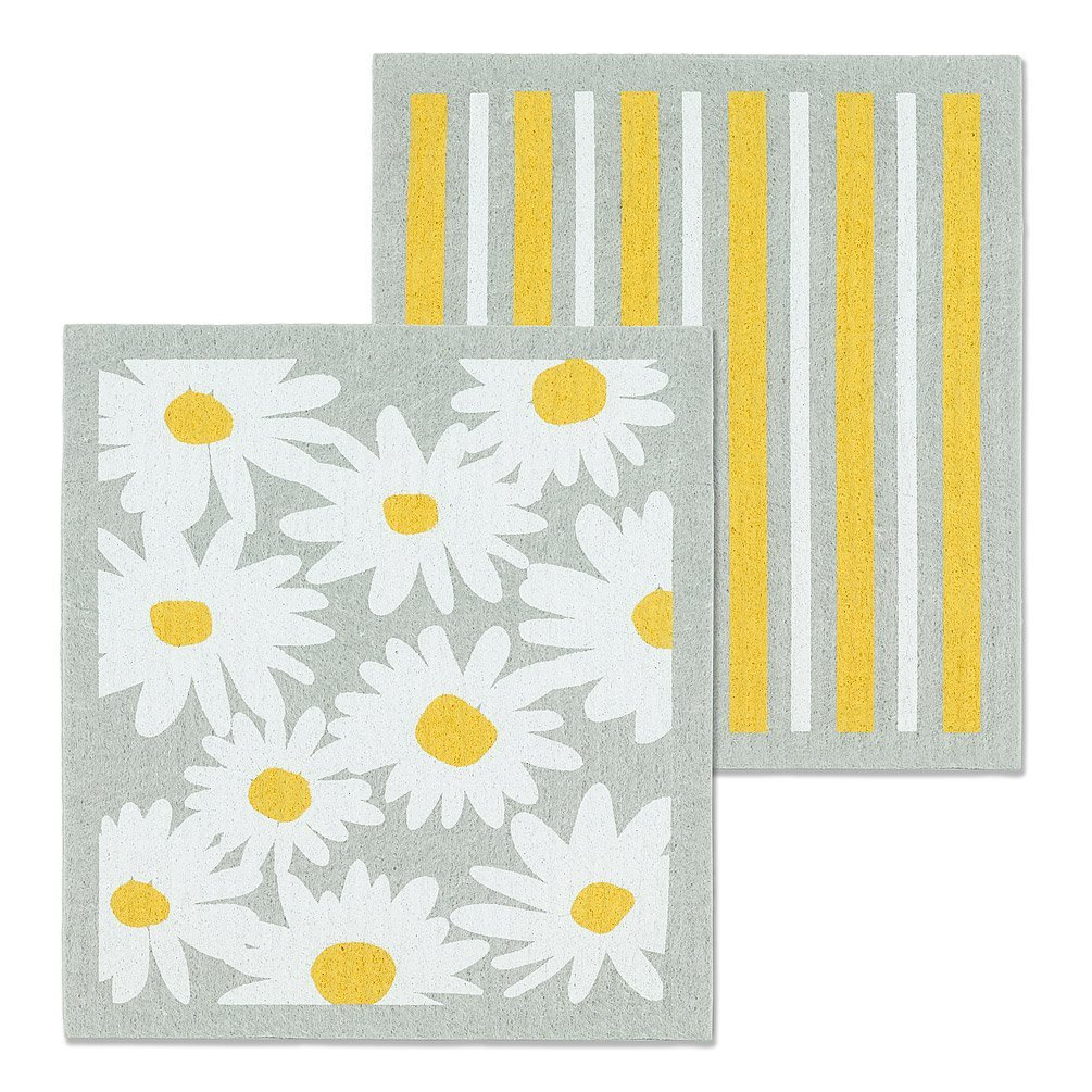 Daisies & Stripes Dishcloths