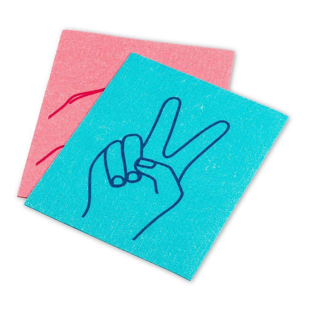 Peace & Love Dishcloths