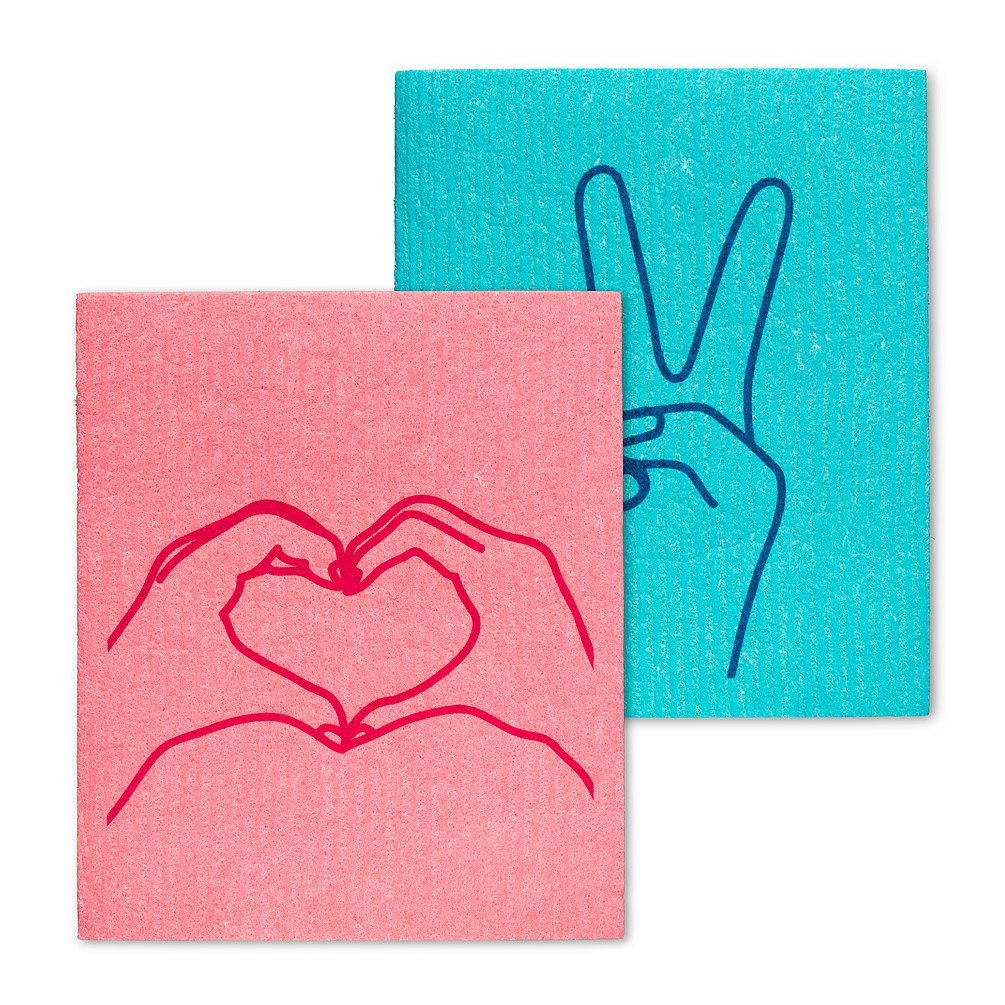 Peace & Love Dishcloths