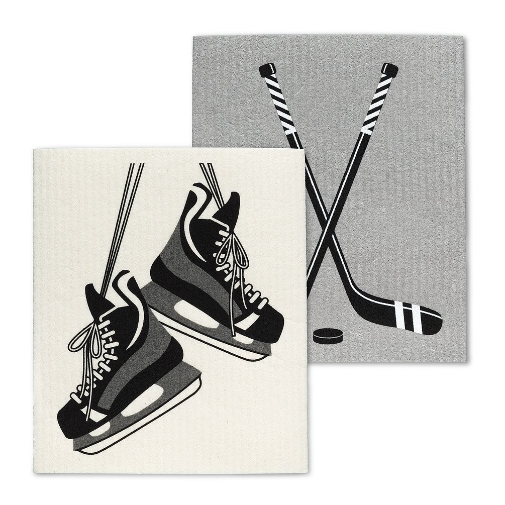 Hockey Skates & Stick Dishcloths