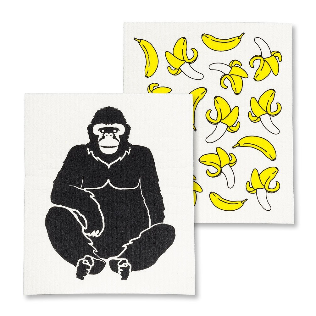 Gorilla & Bananas Dishcloths