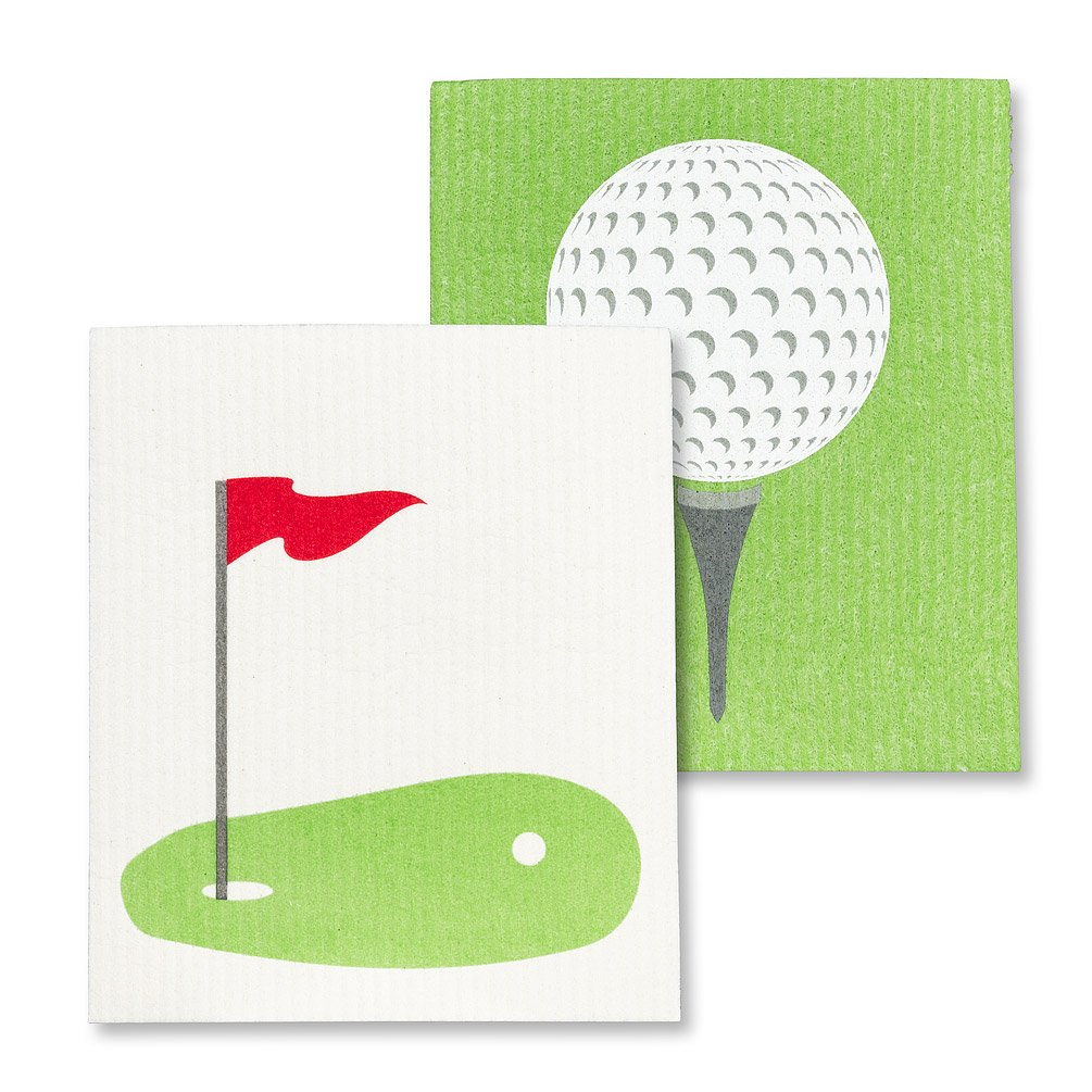 Golf Ball & Green Dishcloths