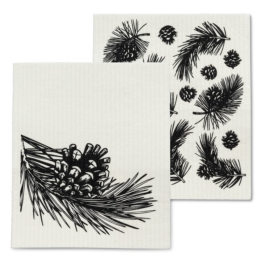 Pinecone & Branch Dish Cloths
