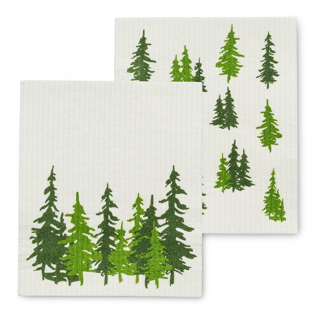 Evergreen Forest Dish Cloths