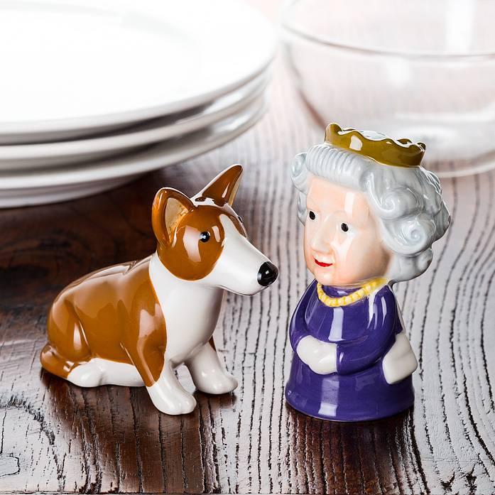 Queen and Corgi Salt & Pepper