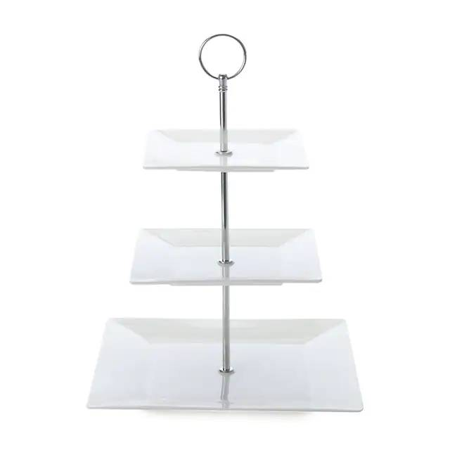 White Basics Cosmo 3-Tier Cake Stand