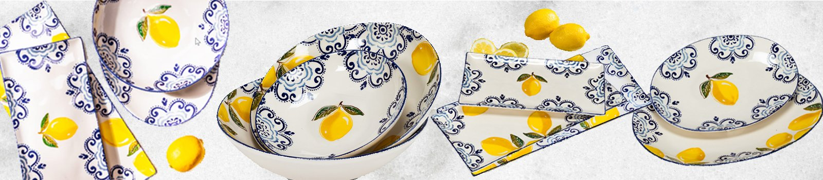 Sorento Lemon Platters
