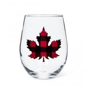 Check Maple Leaf Stemless Goblet