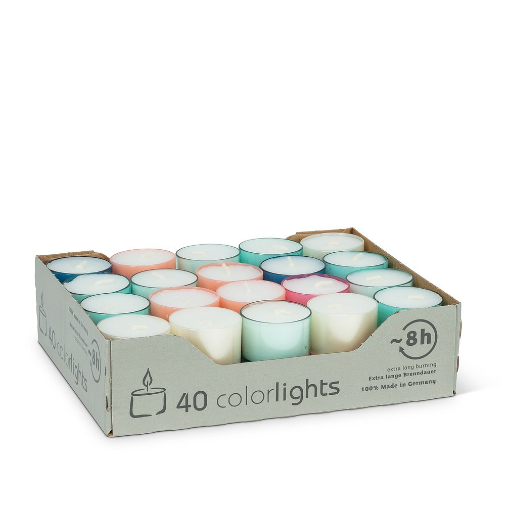 Extra Long Burn Tealites. 40 Pack