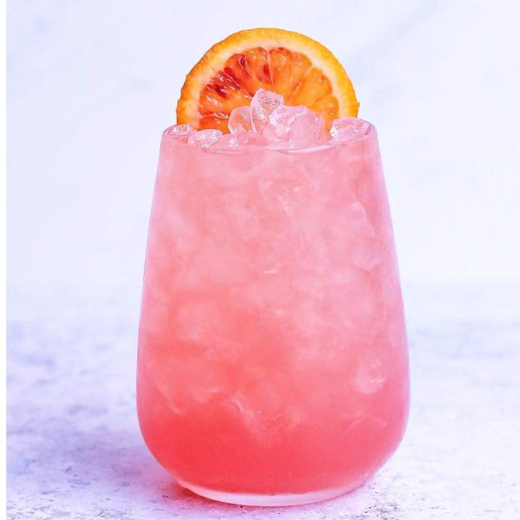 Raspberry orange cocktail bomb