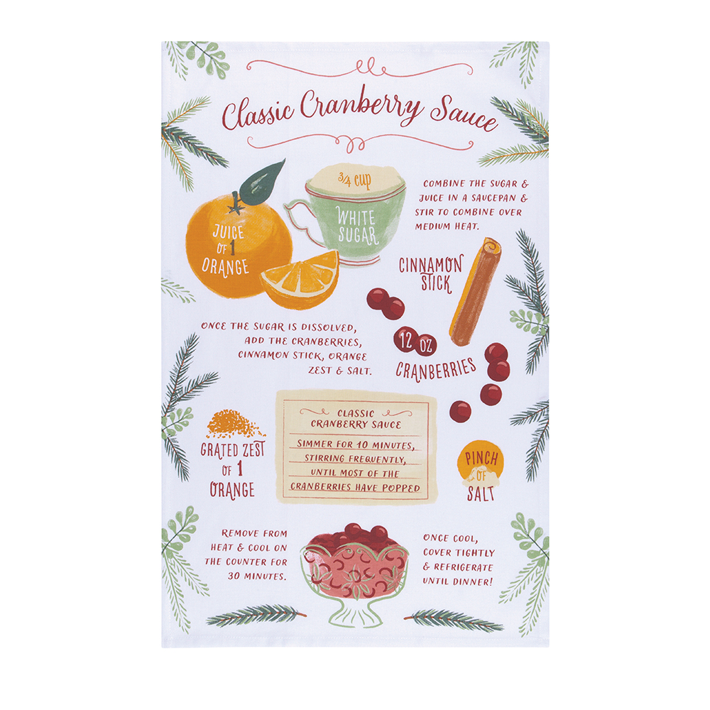 Tea towel Cranberry Sauce Recipe