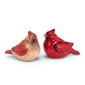 Cardinal Salt & Pepper Shakers.