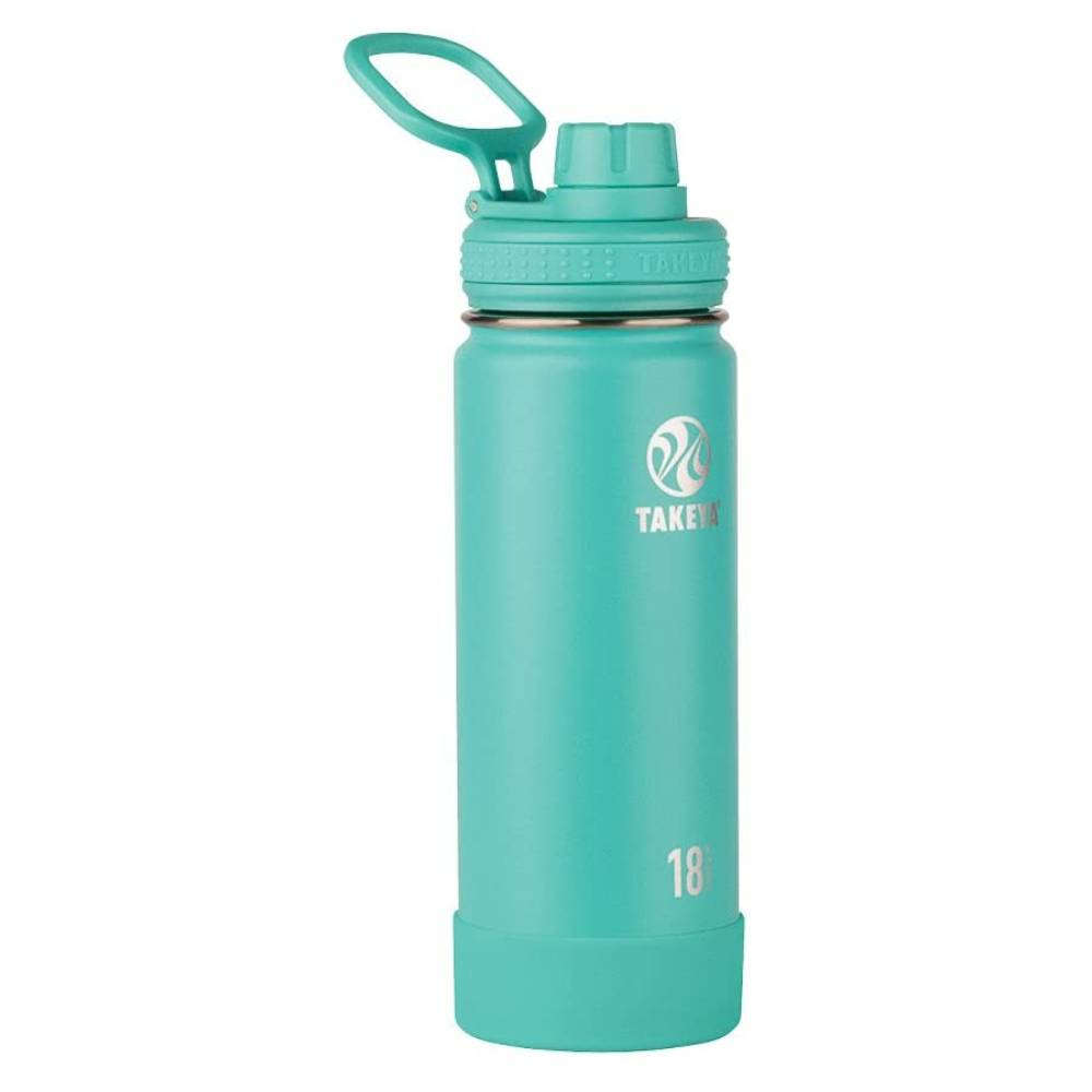Takeya 18oz Actives Insulated Water Bottle With Spout Lid Teal