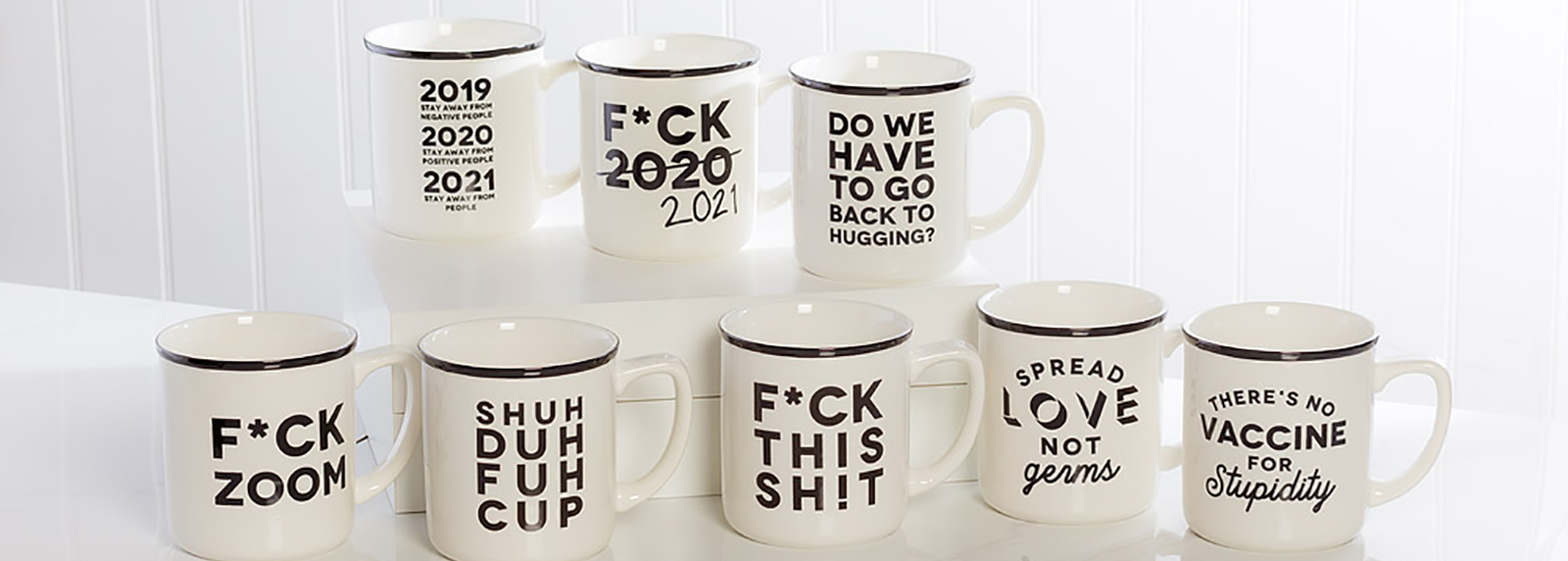 Covid Playful Text Mugs